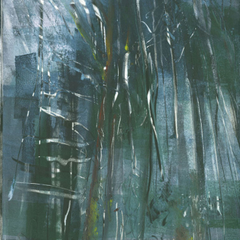 "Dark Wood, monotype, 11"" x 15, 2010, private collection"