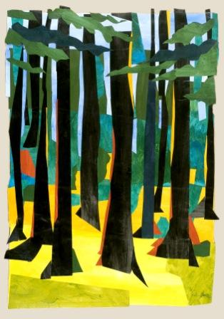in-the-woods-acrylic-on-paper-collage-compressed-for-web